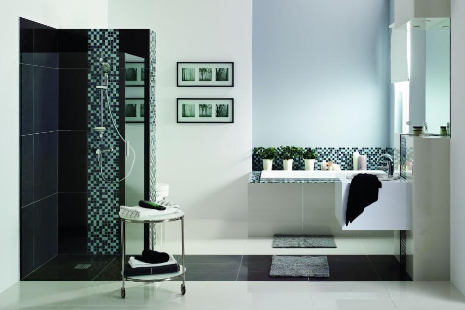 Fugi z brokatem - łazienka z połyskiem w stylu glamour