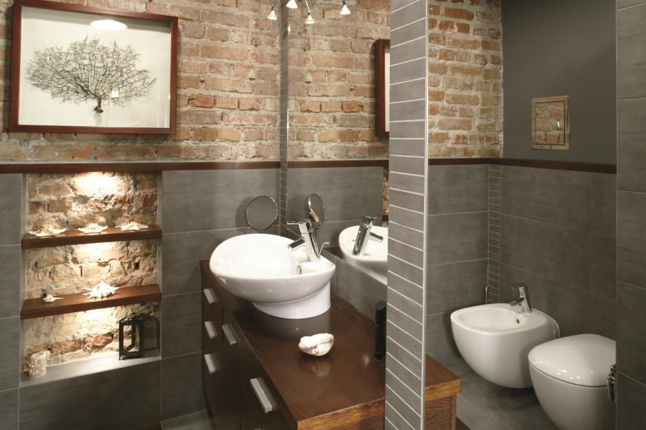 Aranżujemy Cegła Na ścianie O łazience W Starej