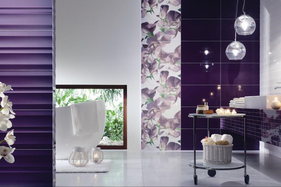 Fiolet do łazienki – ten kolor jest modny
