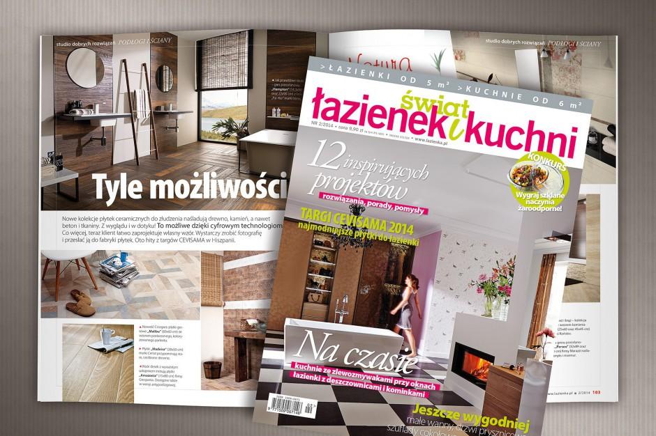 """Nowe wydanie magazynu """"Świat Łazienek i Kuchni"""" już w sprzedaży"""