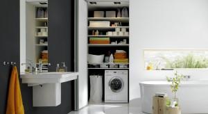 Pranie, suszenie, przechowywanie - pomysły na pralnię w łazience