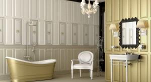 Łazienki w stylu glamour – 12 pięknych aranżacji z dodatkiem złota