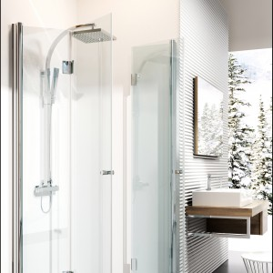 Kerria - nowa kabina prysznicowa od Deante. Idealna do małych łazienek