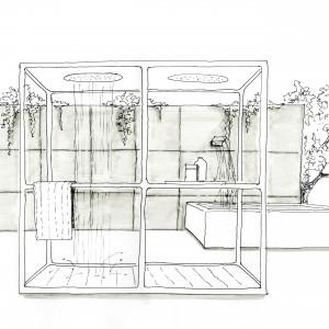 Prysznic w ogrodzie – sposób na upalne dni