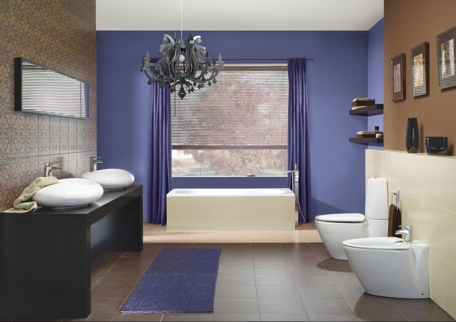 Aranżujemy Wielki Błękit W łazience Farby W Kolorze