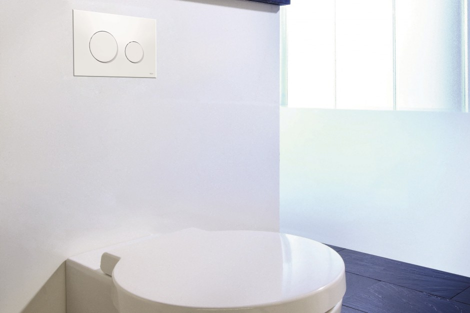 Nowe antybakteryjne przyciski do toalet publicznych