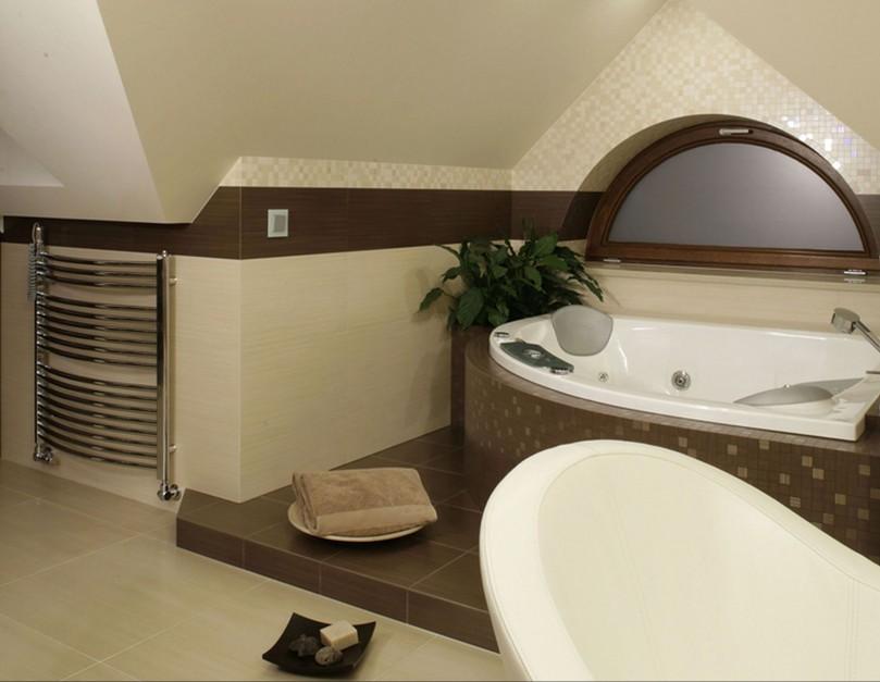 Inspirujemy łazienka Pod Skosami Zobacz Piękną Aranżację