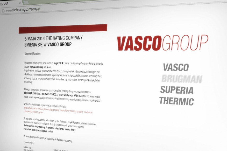 The Heating Company zmienia się w Vasco Group