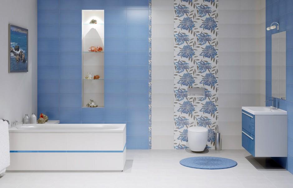 Aranżujemy Niebieskie Płytki Ceramiczne I Mozaika 12