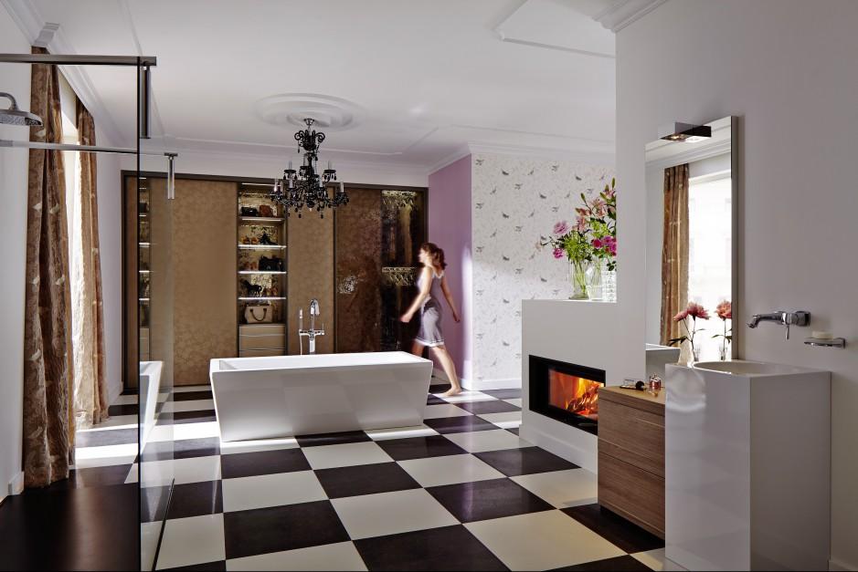 Kominek w łazience – modele przenośne, tradycyjne, nowoczesne. Aż 15 aranżacji!