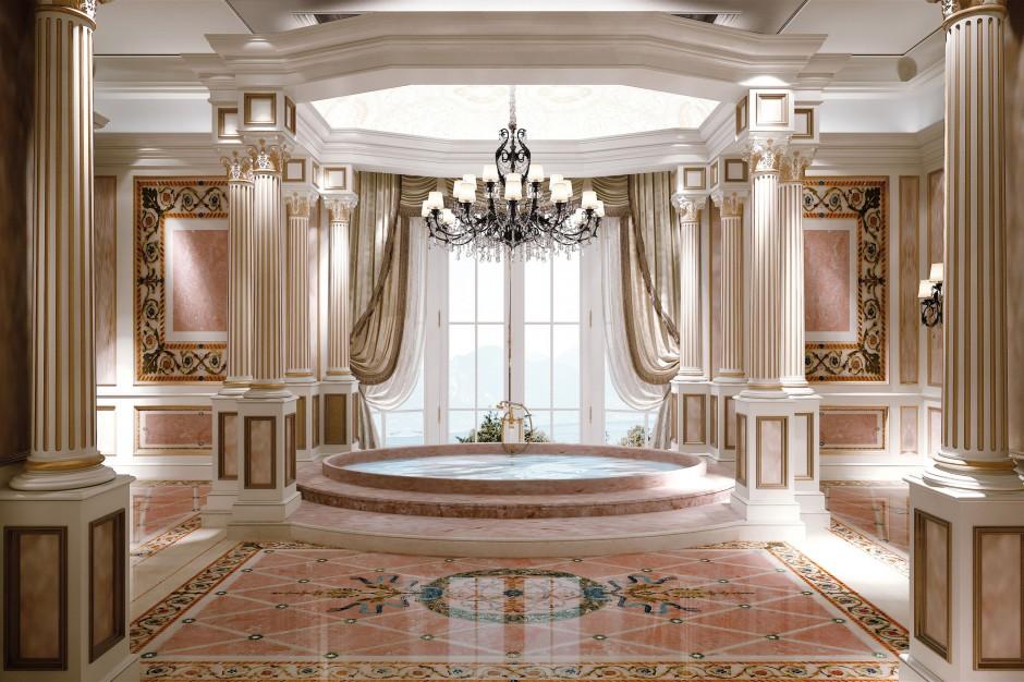 Marmury na ściany i podłogi do łazienki. Zobacz 15 projektów znanych architektów
