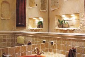 Inspirujemy łazienka Z Trawertynem Z Asyżu Styl Antyczny