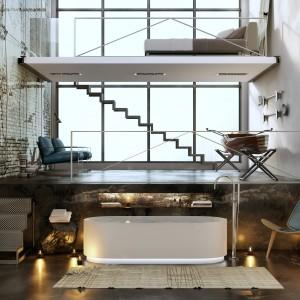 Loftowe klimaty - beton, stal, kompozyt w łazience. 10 aranżacji wnętrz