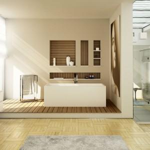 Łazienka w naturalnej  aranżacji – postaw na dekoracyjne drewno