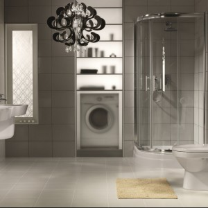 Nie ukrywaj pralki!  Zobacz pomysły na modną aranżację łazienki z pralką