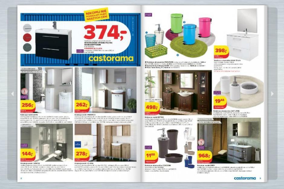 Promocyjne ceny w sieci CASTORAMA na meble łazienkowe, armaturę, ceramikę, wanny, grzejniki, płytki