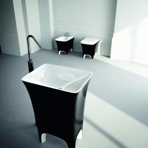 Łazienkowa awangarda - umywalki stojące z konglomeratów i ceramiki
