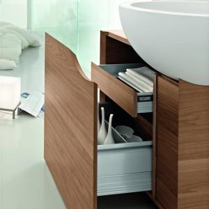 Szuflady wewnętrzne w szafkach łazienkowych. 10 najciekawszych kolekcji