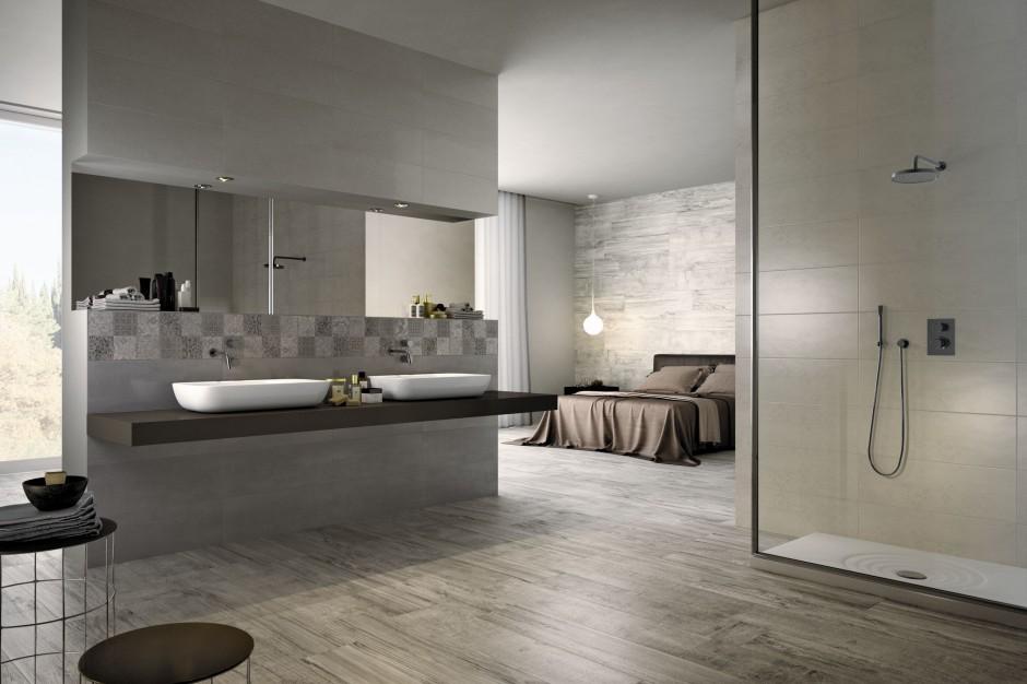 Łazienka w modnych szarościach – 10 trendowych aranżacji