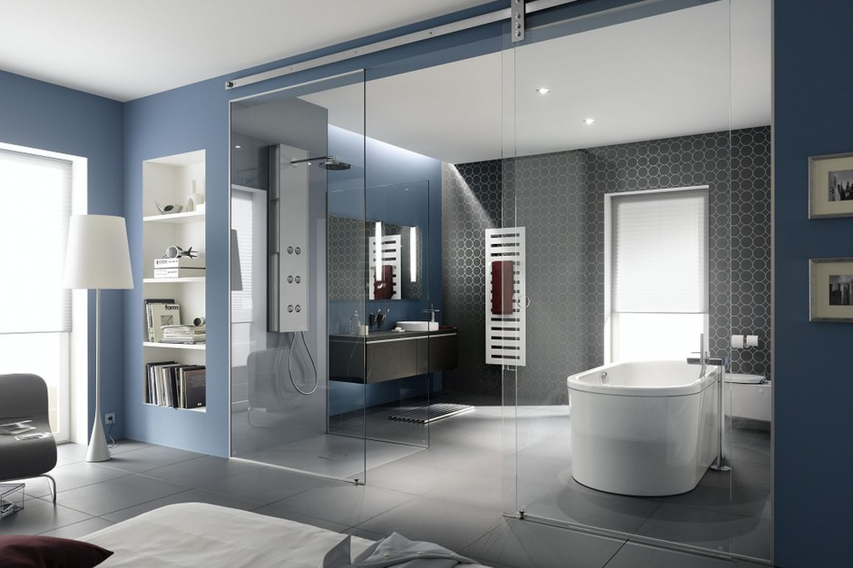 Łazienka otwarta na sypialnię – zobacz 10 pomysłów