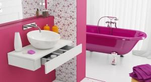 Łazienka na różowo: modna i praktyczna