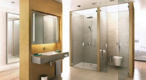 Szklane ścianki działowe – tak możesz podzielić łazienkę na strefy