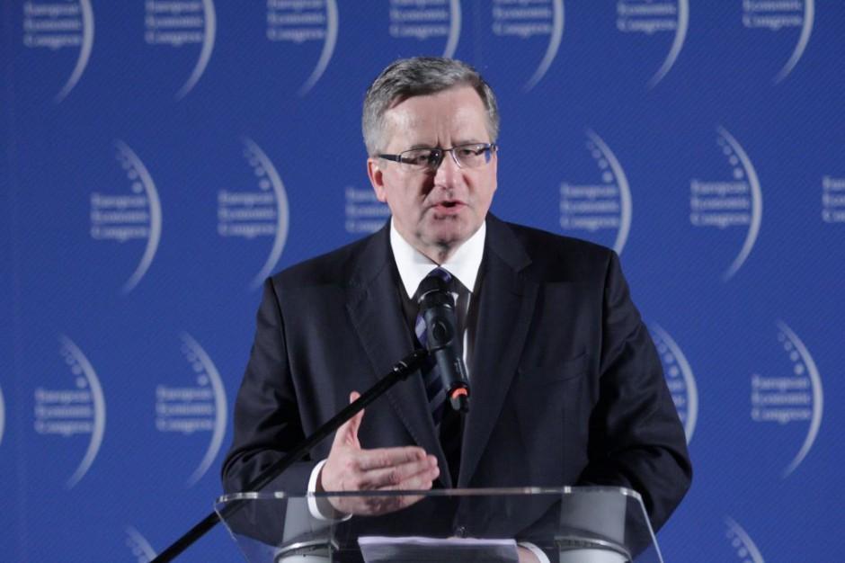 Prezydent RP Bronisław Komorowski gościem specjalnym Wschodniego Kongresu Gospodarczego