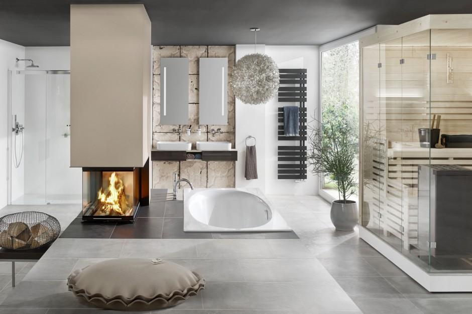Kominek w łazience: 10 pięknych aranżacji w jesiennym klimacie