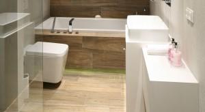 Łazienka dla rodziny: z cegłą i płytkami à la deski
