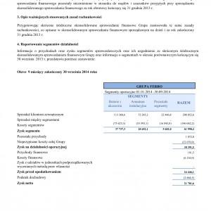 Ferro ze zwiększonym zyskiem w trzecim kwartale 2014