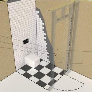 Montaż umywalki w ściance działowej [krok po kroku]