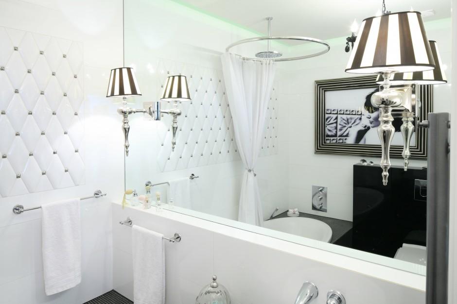 Inspirujemy Mała łazienka W Stylu Glamour Wnętrze W