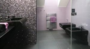 Mała łazienka – komfortowe wnętrze pod skosem dachowym