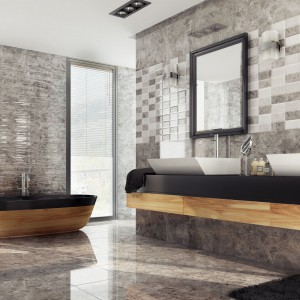 Płytki jak kamień – 12 stylowych kolekcji do łazienki