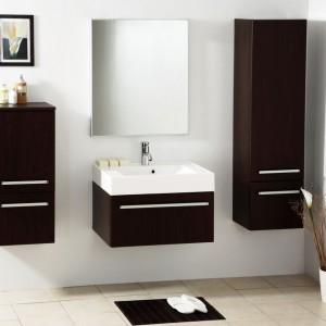 Meble do łazienki – piękne kolekcje  w ciemnym drewnie