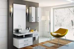 Białe meble do łazienki. Zobacz modne szafki od 245 zł