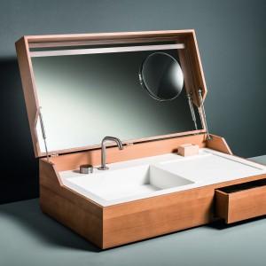 Umywalka w walizce, szafka w wannie – czym jeszcze zaskoczy nas łazienka?
