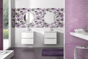 Płytki z kwiatowymi dekorami – zobacz kolekcje w stylu glamour