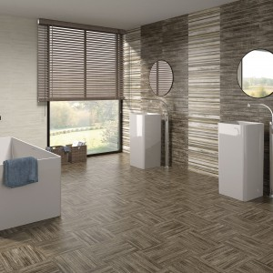 Łazienki w kolorach ziemi. Zobacz 12 ponadczasowych wnętrz