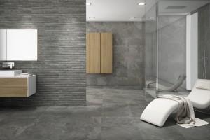 Łazienka w stylu loft – wybierz płytki w modnych szarościach