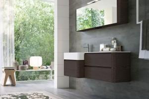 Meble do łazienki – 12 pięknych zestawów w dekorze drewna