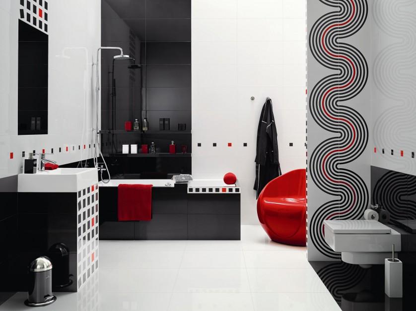 Radzimy - Czarno-biała łazienka – modne pomysły na ...