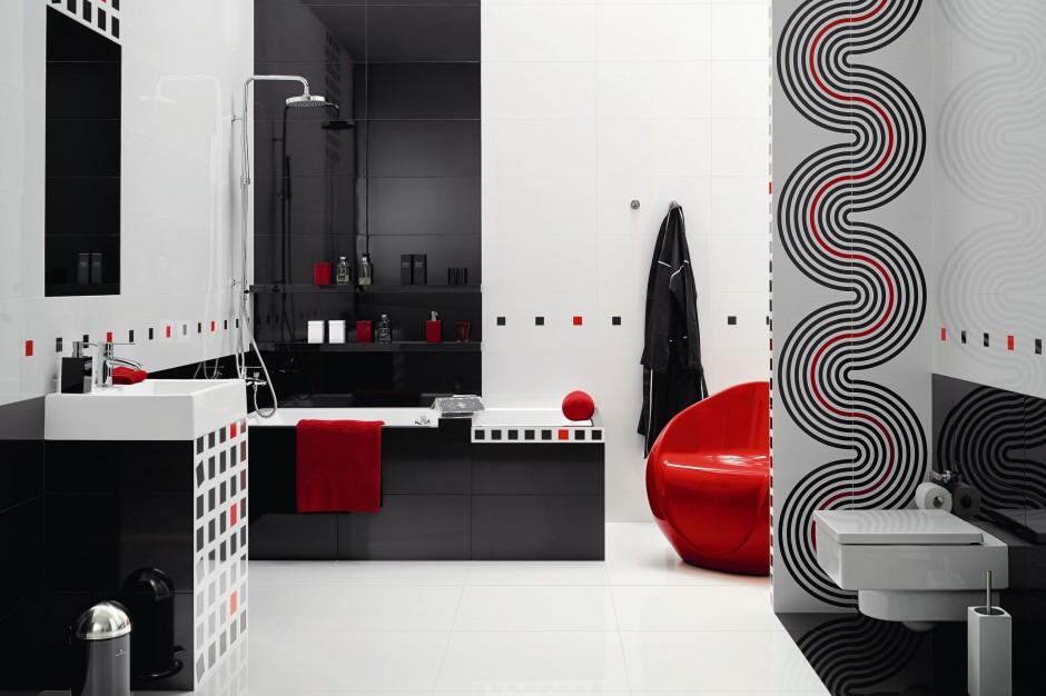 Czarno-biała łazienka – modne pomysły na aranżację