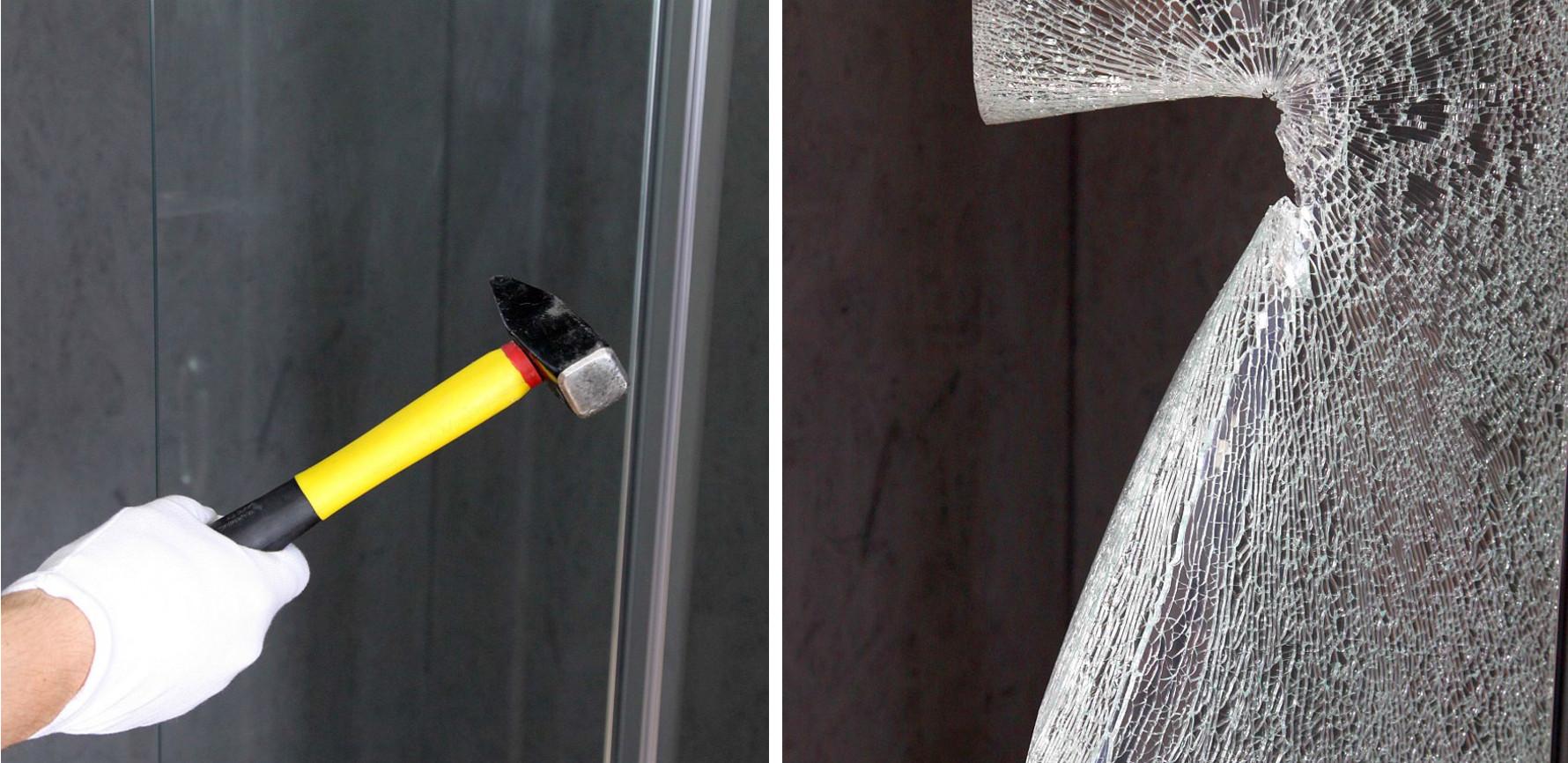 Grubość szkła (8 mm) pozwala zachować stabilność konstrukcji.