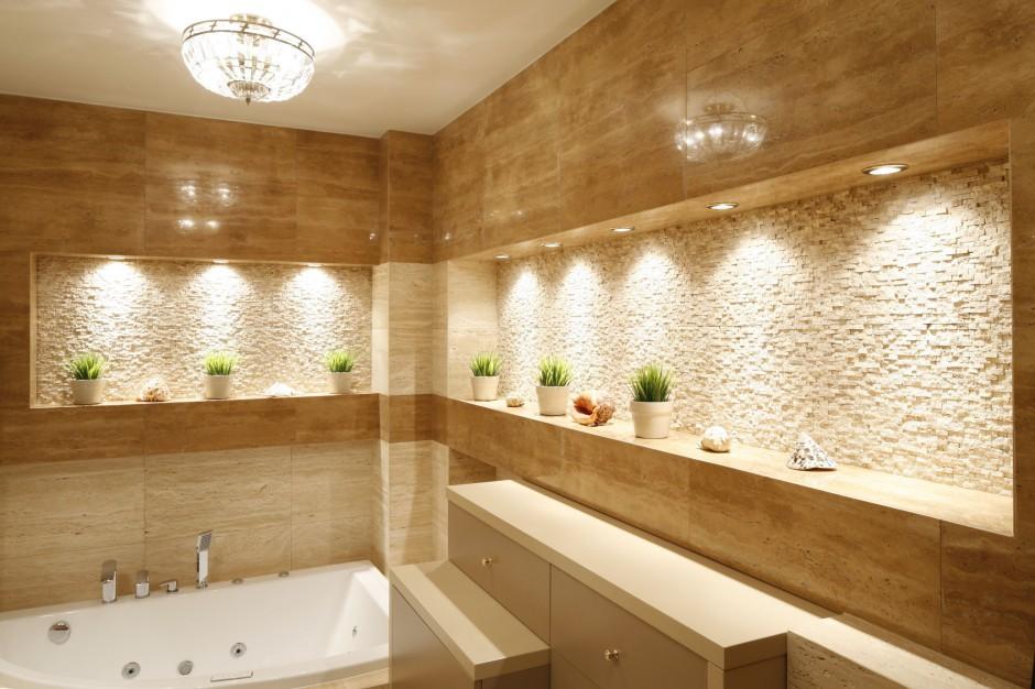 Aranżujemy Nowoczesna Jasna łazienka W Kamieniu Projekty