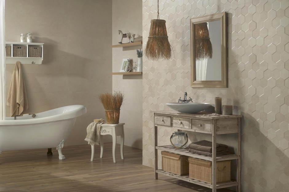 Płytki ceramiczne z efektem 3D – nowości do łazienki