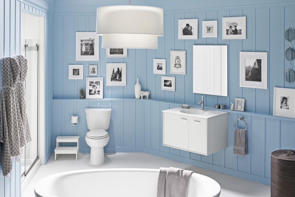 inspirujemy boazeria do azienki 10 pomys w jak modnie j u o y. Black Bedroom Furniture Sets. Home Design Ideas