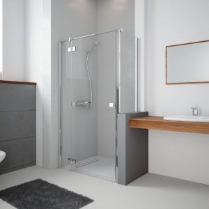 Prysznic w małej łazience: 12 modeli drzwi do wnęki