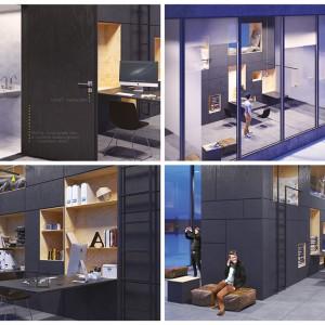24 pomysły na łazienkę biurową - nowoczesne rozwiązania od młodych projektantów