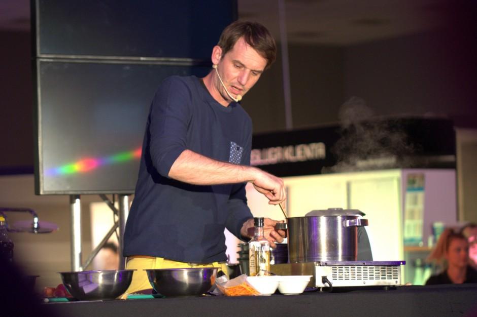 Pascal gotuje w łazience - salon Hiper-Glazur w Szczecinie świętował 15-lecie